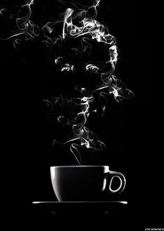 coffee - I think this would be really cool to do on black paper with white charcoal...