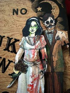 Zombie Wedding - Wedding paper dolls - My zombie paper dolls wedding set. --By Georgia Dunn