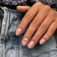 Minimalist Nails, Nude Nails, Nail Manicure, Nail Polish, Get Nails, How To Do Nails, Hair And Nails, Fall Nails, Summer Nails