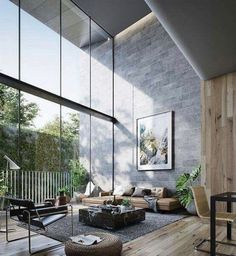 Floor to ceiling windows.