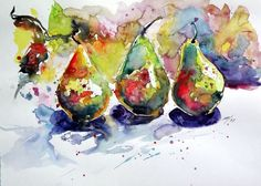 Buy Pears - perfect gift for your kitchen, Watercolour by Kovács Anna Brigitta on Artfinder. Discover thousands of other original paintings, prints, sculptures and photography from independent artists.