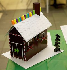 Duck Tape gingerbread house http://duckbrand.com/craft-decor#row=4&cat=activity&type=Holiday?utm_campaign=dt-crafts&utm_medium=social&utm_source=pinterest.com&utm_content=duct-tape-crafts-holiday