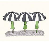 3 girls under umbrella
