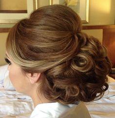 Featured Hairstyle: Heidi Marie (Garrett) Villa - Hair and Makeup Girl; Wedding hairstyle idea.