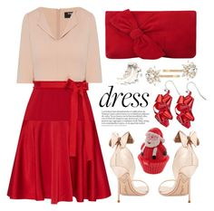 """#longsleevedress#holiday"" by miee0105 ❤ liked on Polyvore featuring Paule Ka, Sophia Webster, L.K.Bennett and Trina Turk"