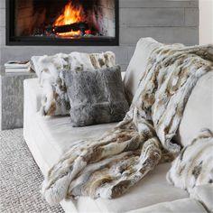 Grace Sofa Pillow Cushion Case Cover Farm Rabbit Fur Home Decorative Hot Cheap  | eBay