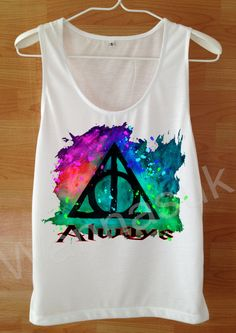 ALWAYS Harry Potter T Shirt Custom Handmade Screen by wannasuk