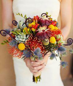 Egzotikus menyasszonyi csokor nyár végére és őszre | retikul.hu