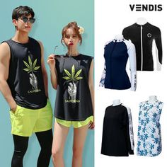 Gmarket - Couple Rash Guard Swimsuit Set Plus Size Zip-Up Couple Shirts, Rash Guard, Zip Ups, Swimsuits, Plus Size, Couples, Pants, Tops, Women
