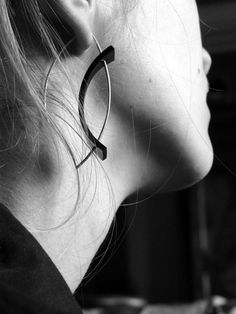 Boucles d'oreilles Equilibre - argent et caoutchouc - Nelly CHEMIN - www.nellychemin.com