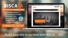 Biscaya for WordPress is a highly-professional & modern website theme crafted with you,  the user, in mind.  With 2 layouts, 20 predefined skins and over 40 shortcodes , Biscaya has all the flexibility and features needed for building a top-notch business website.
