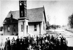 The Historic American Fork Presbyterian Church was established in 1877 as a mission church to Utah Valley. Undated picture.