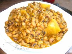 nigerian food Black eyed peas and yams wanna learn how to make with plantain