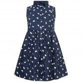 Gant Girls Navy Boat Print Dress