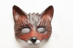 The Dark Fox Mask Fancy Dress Animal Mask Papier by DaceBrakmane