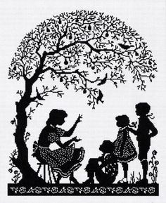 http://cwetomania.ru/?mode=folder_id=149180201=82&p=20 woman children tree blackwork cross stitch chart pattern