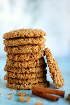 almás zabkeksz6 Paleo, Almond, Dessert Recipes, Sweets, Vegan, Cookies, Baking, Biscotti, Pink