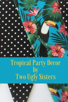 Tropical Rainforest Toucan Bird Bunting Flags for Home Decor and Birthday Party Decor Polka Dot Banner South American Theme Bunting Flags Fabric Bunting, Bunting Banner, Birthday Party Celebration, Birthday Party Decorations, Polka Dot Fabric, Polka Dots, Childrens Cushions, Bunting Ideas, Teenager Girl