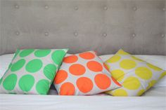 3 x Neon Decorative Throw Cushion Cover 45cm - Choice of colours