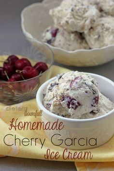 Homemade Cherry Garcia Ice Cream.