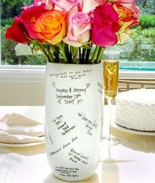 Guest book you'll actually use again Signature Vase. Would be great for a bridal shower...