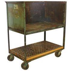 American Industrial Rolling Bar Cart