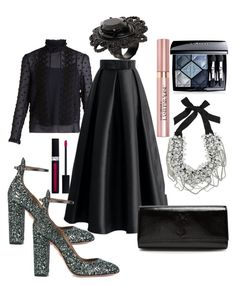"""""""NIGHT OUT OUTFIT REPORT"""" by andreamartin24601 on Polyvore featuring See by Chloé, Chicwish, Aquazzura, Yves Saint Laurent, Oscar de la Renta, L'Oréal Paris, Christian Dior and Dsquared2"""