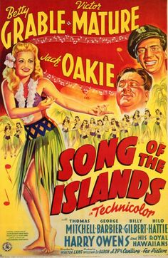 SONG OF THE ISLANDS (1942) - Betty Grable - Victor Mature - Jack Oakie - Thomas Mitchell - 20th Century-Fox..