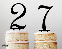 NUMBERS 0  9 acrylic cake topper  Black or by LavishLaserDesign