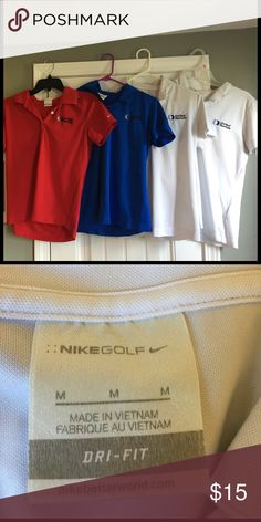 Nike Women's Golf Dri Fit Polo w/ Logo I used to work here and these shirts are our golfing shirts. United Rentals. Used but decent condition Nike Tops