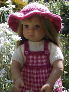 "Picnic in the Park - PDF Doll Clothes knitting pattern for 18"" Kidz n Cats Doll. £3.50, via Etsy."
