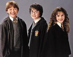 Harry Ron and hermione!