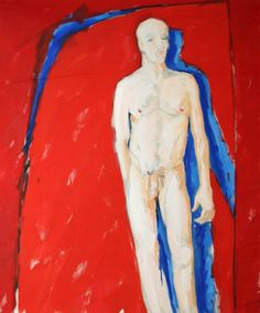 Original painting by Hans-Gerd Mehrtens Male Nude, Gay Interest