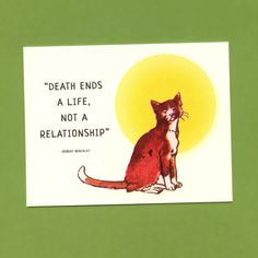 LOSS Of A CAT  SYMPATHY  Card by seasandpeas on Etsy, $3.75