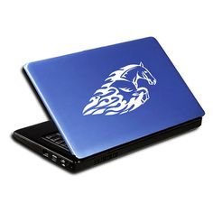 Flaming Horse Decal for Laptop Tablet By SewardStreetStudios
