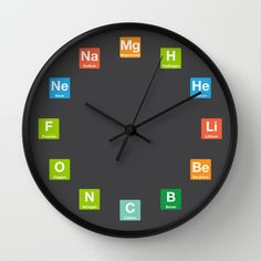 Pin by ashish dutt sharma on periodic table clock pinterest clocks periodic table elements wall clock urtaz Images