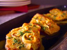 Chicken Scallopine with Saffron Cream Sauce recipe from Everyday Italian via Food Network