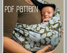 30 minutos Baby Sling PDF patrón proyecto gran por BerryBirdy