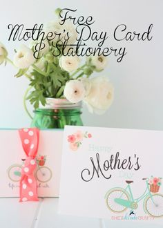 Free Mothers Day Card and Stationery