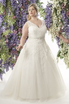 Santorini its fabulous so much lace and a real princess skirt its fairytale! come and book an appointment with us at Borrowed Blue & Lace in Wokingham Berskire and see our Callista range for brides with curves