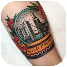 Another gorgeous piece from Becca Genné-Bacon proves that, for some tourists, a real snow globe just isn't a meaningful enough souvenir.  #refinery29 http://www.refinery29.com/nyc-inspired-tattoos#slide-4