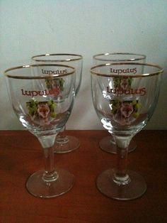 For Sale: Beer glasses: Four original glasses Lupulus ...