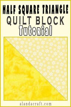 Learn how to make a Half Square Triangle quilt block. This is one of the easiest quilt blocks to make, and it's one of the most versatile quilt blocks you will use in your quilting projects. Quilt Blocks Easy, Quilt Block Patterns, Easy Quilts, Pattern Blocks, Diy And Crafts Sewing, Easy Sewing Projects, Sewing Ideas, Sewing Patterns, Diy Crafts