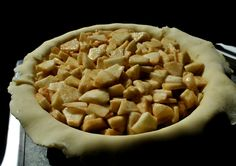 home made apple pie. crust made by hand