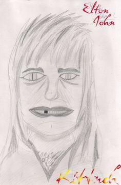 Elton John as some sort of weird, reptilian rocker: The 30 Most Horrifying Fan Tributes Of All Time Bad Fan Art, Bad Art, Worst Celebrities, Unusual News, Fan Drawing, Creepy Guy, People Dont Understand, Real Monsters, Celebrity Drawings