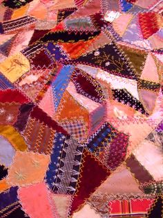 crazy quilt embroidery stitching