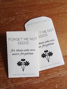 20 Custom Colour Seed Packet Memorial Wedding Favor Forget Me Not Let Love Grow Diy Plant With Favour Succulent Fill Your Own