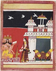 Khambhavati Ragini (A Woman Worshipping Brahma) Page from a dispersed ragamala series Made in Madhya Pradesh, Malwa Region, India, Asia ca. Indian Music, Indian Art, India Painting, India Asia, Philadelphia Museum Of Art, Madhya Pradesh, Hindus, Paper Dimensions, Traditional Art