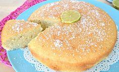 Gâteau au lait de coco et citron vert au Thermomix, recette d'un délicieux gâteau exotique parfumé au citron vert, facile et rapide à réaliser pour un goûter gourmand.