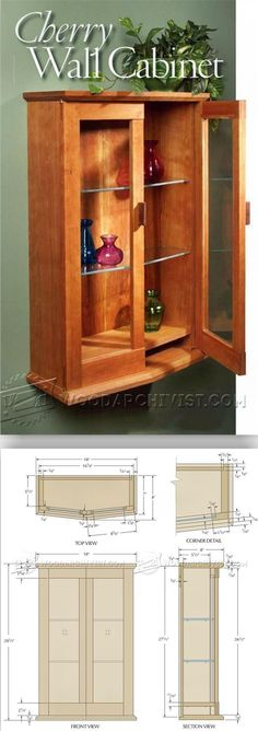 Cherry Wall Cabinet Plans - Furniture Plans and Projects | WoodArchivist.com